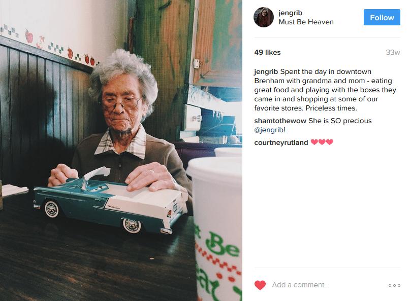 Grandma dining