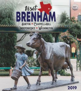 Visitors guide cover for Brenham, Burton, Chappell Hill, Independence, Washington, Texas